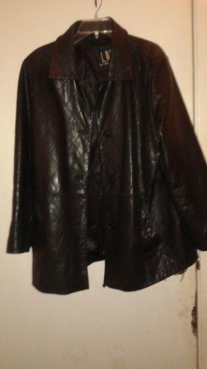 Size XL LAMBSKIN LEATHER COAT for Sale in Las Vegas, NV