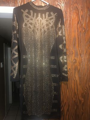 Long sleeve sequin dress w gold for Sale in Santa Ana, CA