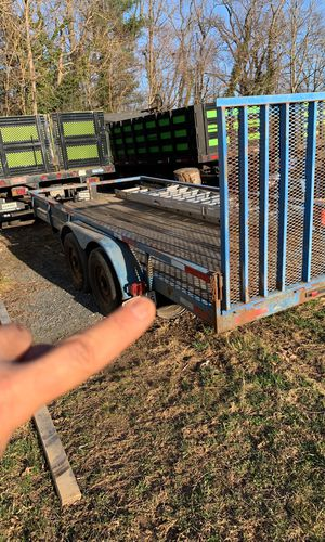 Landscape trailer for lawn mowers or a bobcat double axel for Sale in Ashton-Sandy Spring, MD