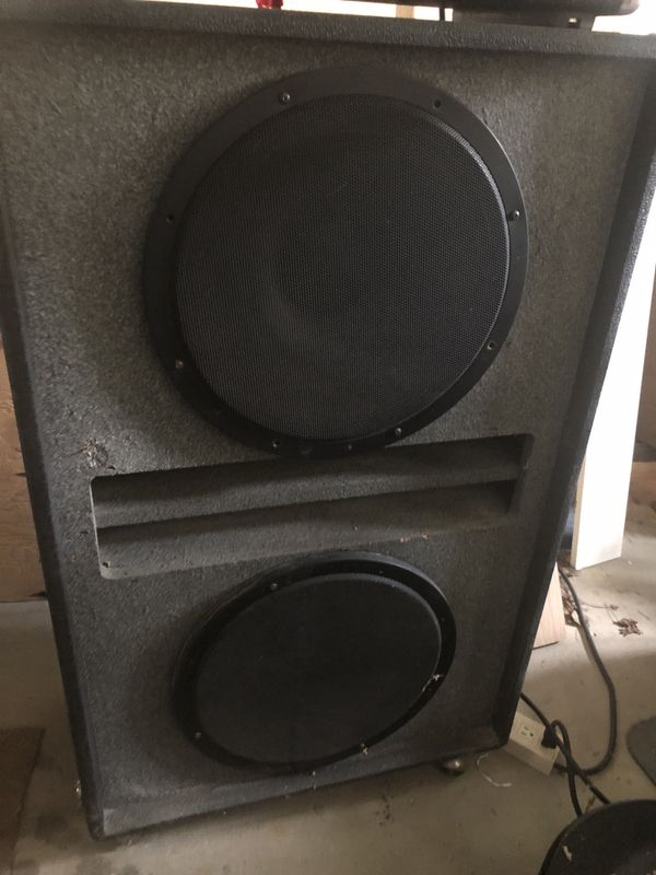 """Bass cabinet - 2 15"""" speakers."""