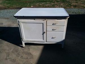 Antique kitchen cabinet porcelain enamel top for Sale in Graham, NC