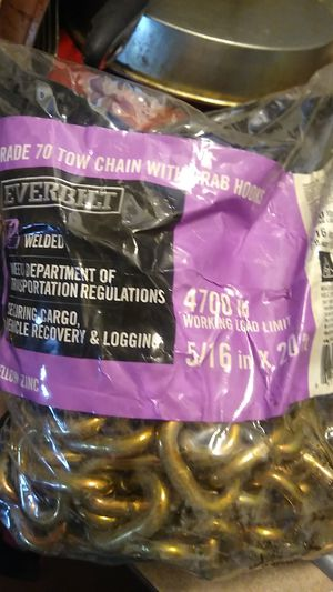 Tow chain 20ft for Sale in Klamath Falls, OR