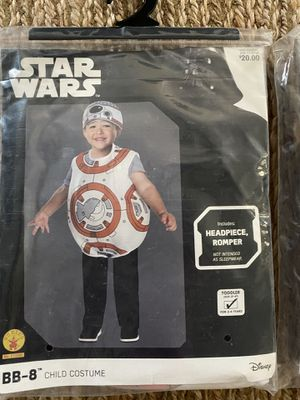 New Star Wars BB-8 toddler 3-4T Halloween costume for Sale in Phoenix, AZ