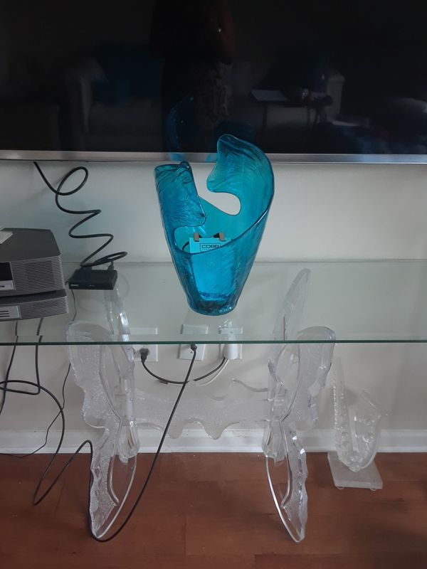 Acrylic Butterfly Console Table