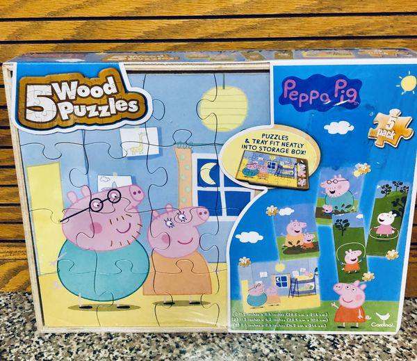 Peppa Pig 5 Wood Puzzles