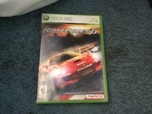Ridge racer6 game for Xbox 360 for Sale in Las Vegas, NV
