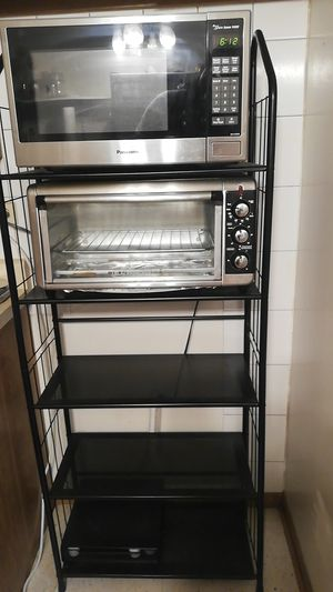 Microwave, toaster oven and kitchen rack for Sale in Des Plaines, IL