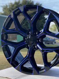22 Inch Snowflake Wheels With Tires / 6 Lugs for Sale in Grand Prairie,  TX