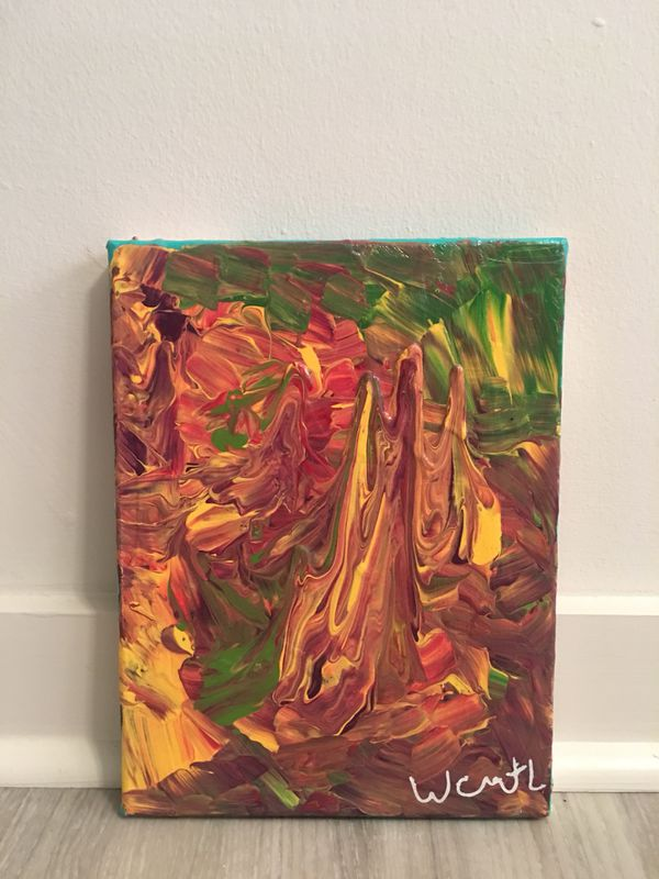 Beautiful abstract painting art piece. 100% original - 2