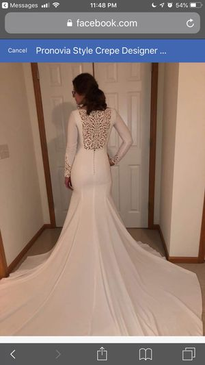Wedding dress ivory like new sz 6-8 for Sale in Lithia Springs, GA