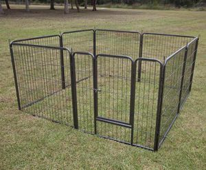 New in box 32 inch tall x 32 inches wide each panel x 8 panels heavy duty exercise playpen fence safety gate dog cage crate kennel expandable fence g for Sale in Covina, CA