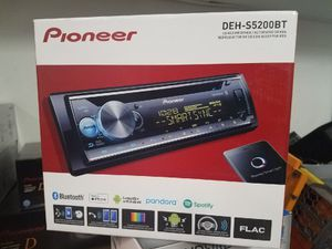 New!! Pioneer car stereo with Bluetooth. Includes 3 preouts. Great for hooking up a system. for Sale in Phoenix, AZ