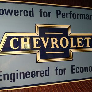 Chevrolet Metal Advertisement Sign for Sale in Portland, OR