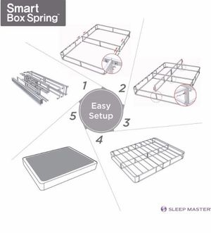 New in small box metal smart box spring King size for Sale in Columbus, OH
