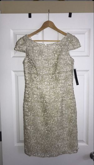Nicole Miller Ivory/Gold Cocktail Dress size 4- brand new for Sale in Annandale, VA