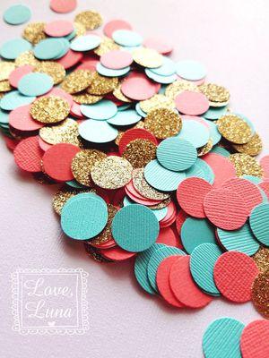 Coral, Mint Green, & Gold Confetti for Sale in Chula Vista, CA