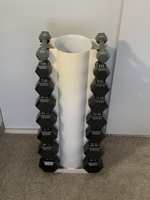 Dumbbell Rack, Rare (8) Pair Vertical Stand for Sale in Chicago, IL