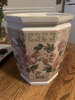 Flower pot with wooden stand for Sale in Danvers, MA