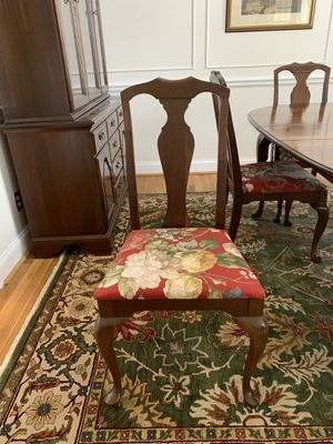 Queen Anne Dining Room Set, Solid Cherry Wood for Sale in CHESAPEAKE, VA