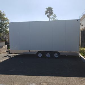 2009 aztex 24ft by 12ft tall stacker enclosed trailer car hauler for Sale in Riverside, CA