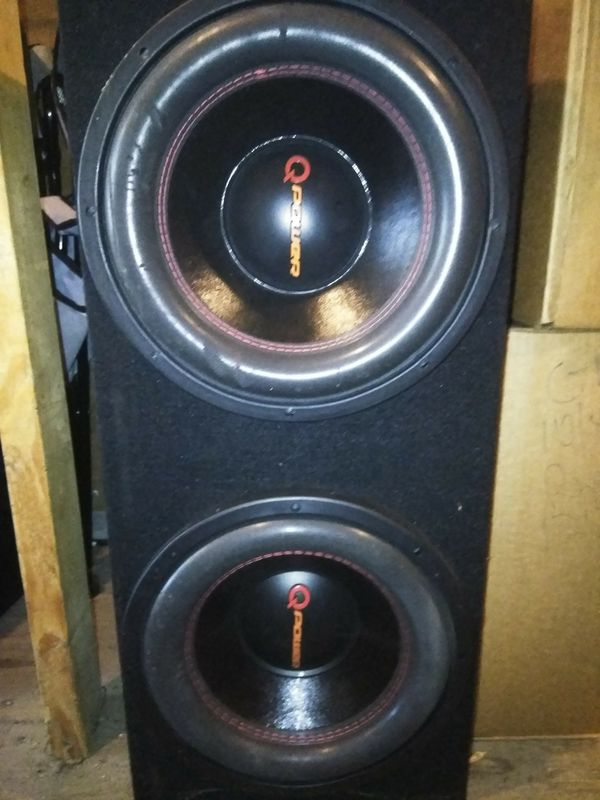 Q power 10 inch subs