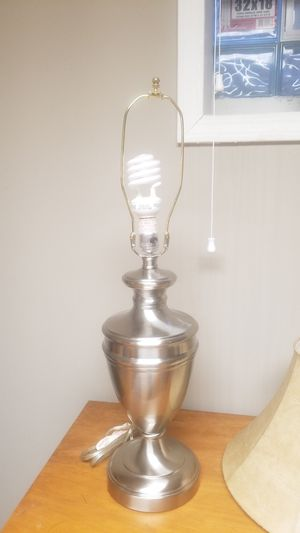Stainless steel table lamp for Sale in Willowbrook, IL