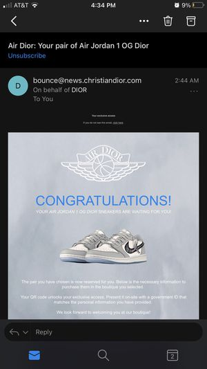 Dior Jordan 1 Lows Size 44.5 (10.5) for Sale in Gilroy, CA