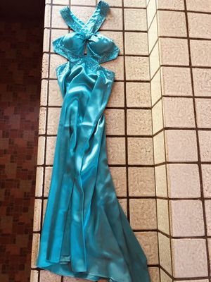 Size 3 prom blue/turquoise prom/cocktail dress for Sale in Morgan Hill, CA