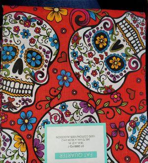 Red sugar skull fabric for Sale in Dixon, MO