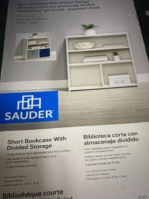 New in box - Sauder bookcase with storage for Sale in Clovis, CA