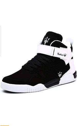 Men's Black Fashion High Top Leather Sneakers Sports/Casual Size 7.5 for Sale in CHAMPIONS GT, FL