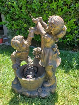 Brand new resin fun and play water fountain 27 inches tall for Sale in Fontana, CA