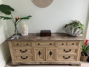 Custom painted shabby chic 9 drawer dresser. for Sale in Washington, DC