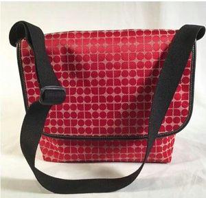 KATE SPADE Vintage Red Cream 'Dot Noel' Fabric Messenger for Sale in Roswell, GA