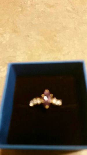 Purple amnesty diamond ring gold for Sale in Lock Haven, PA