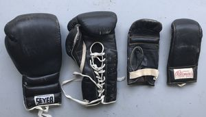 PROFESSIONAL LACED SEYER BOXING GLOVES & PALOMARES HEAVY BAG GLOVES for Sale in Pembroke Pines, FL
