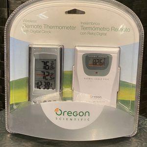Witeless Remote Thermometer Oregon Scientific for Sale in Chicago, IL