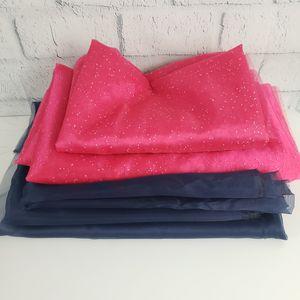 Mixed Lot of Fabric - Organza, Satin, Home Decor - Pink, Navy, Aqua -DIY Craft Wedding Party for Sale in Queen Creek, AZ