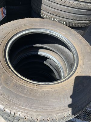 2 tires for sale trailer 205/75r14 for Sale in Spring Valley, CA