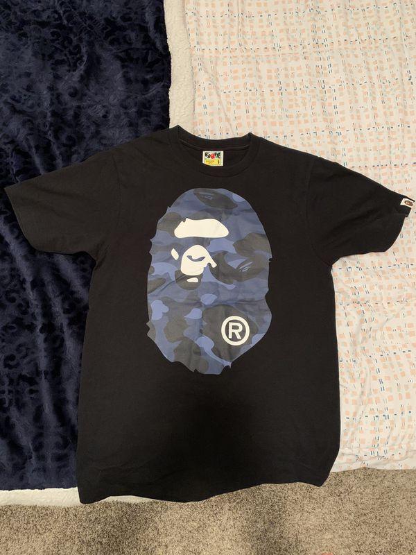 Authentic Bape Blue Camo Shirt