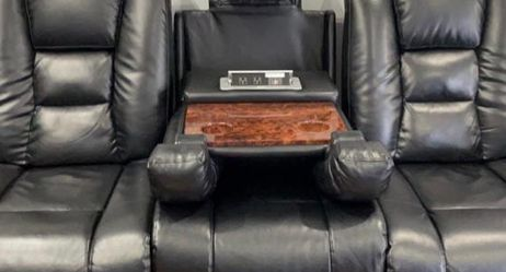 Black Leather Couches Set for Sale in Westland,  MI