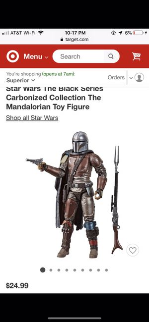 Star Wars The Black Series The Mandalorian Toy Figure for Sale in Los Angeles, CA