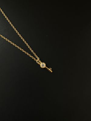 Key pendant 24K gold coated with precious rhinestone embellishment. for Sale in Los Angeles, CA