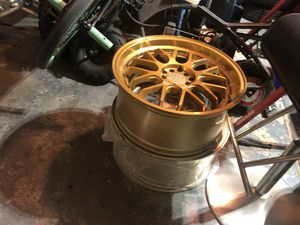 "(Gold) F1r rims 18"" for Sale in North Las Vegas, NV"