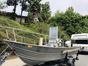 16ft western 50 hp Johnson runs good!! Registration up to date for Sale in San Diego, CA