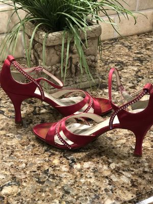 Size 8 Rhinestone Red Shoes for Sale in Smyrna, TN