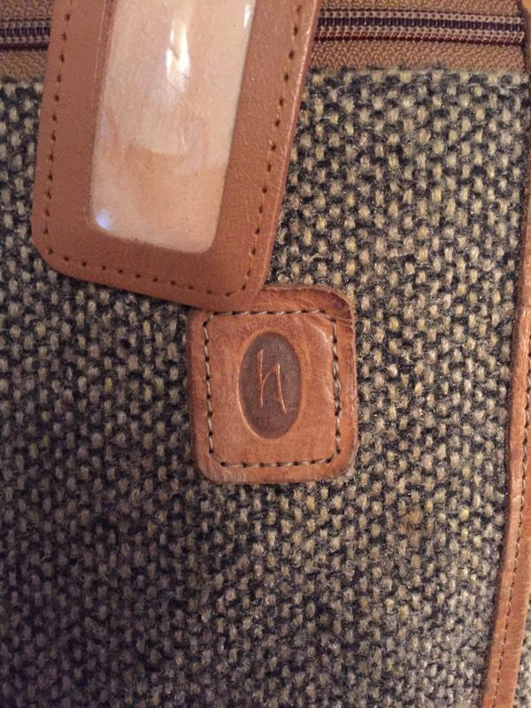 Hartmann Tweed & Leather Garment Bag
