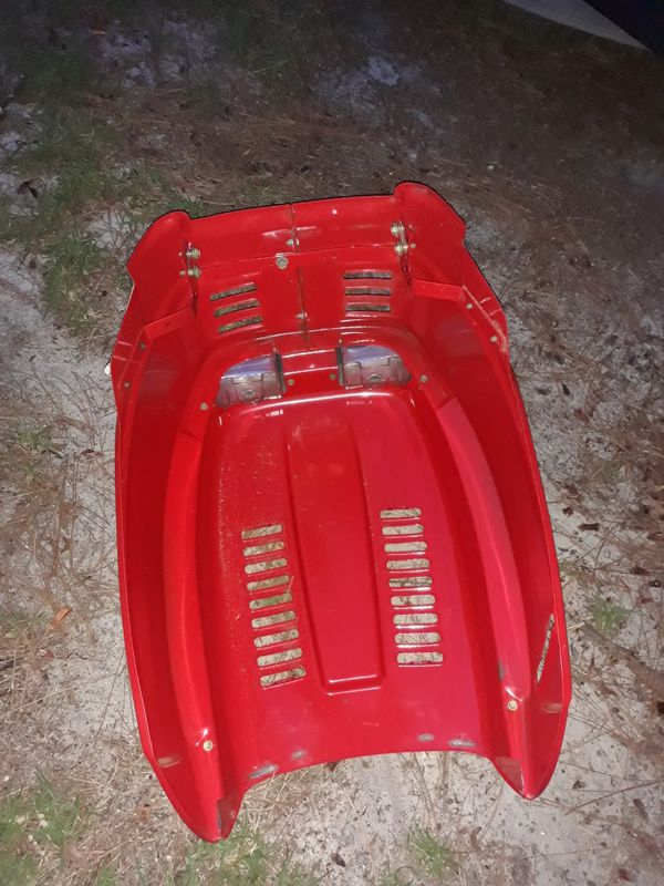 Troy built riding lawn mower pony hood in great condition