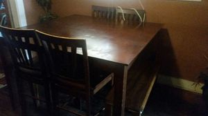 Espresso Square Pub Style Table asking $100 or best offer for Sale in Fresno, CA