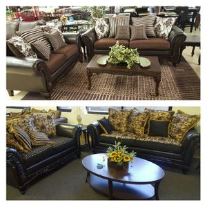 New Sofa and loveseat sets - 6 colors for Sale in US